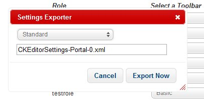 Settings Exporter